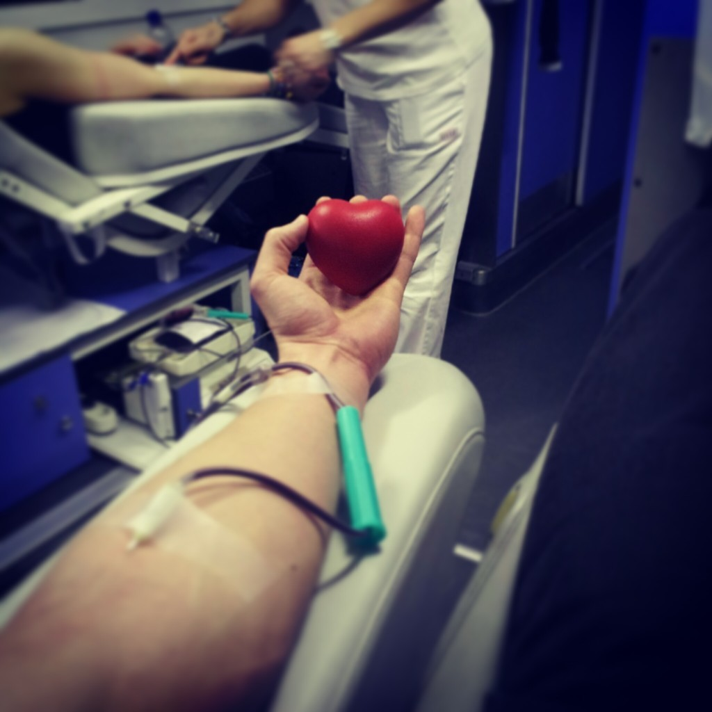 """Useful rubber """"ball"""" that helps donating blood faster."""