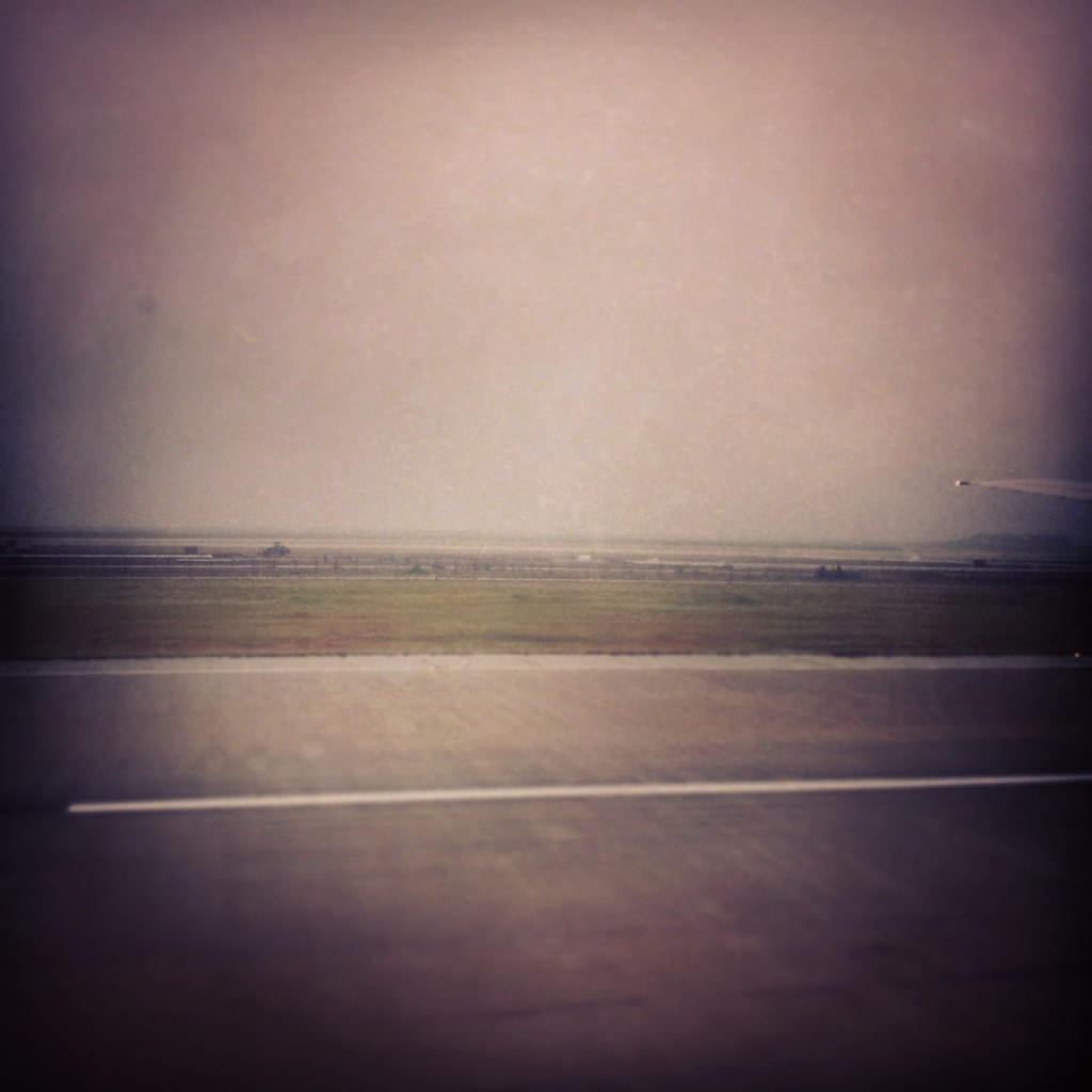 First Impression about Shanghai: Empty fields.