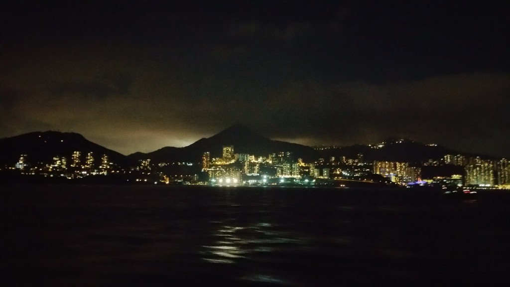 Leaving HK Island behind for Good. LEt's see what we will get in the next 24 hours..