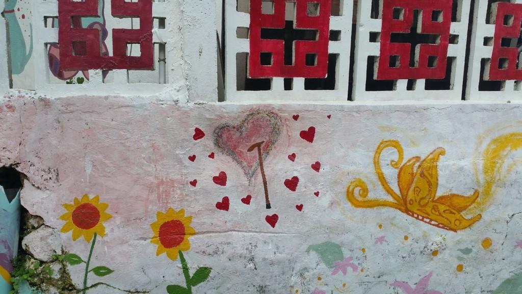 Hearth with a cane. Lamma-ese nuschool street art ;D